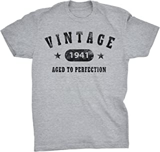 80th Birthday Gift Shirt - Vintage 1941 Aged to Perfection - Stars