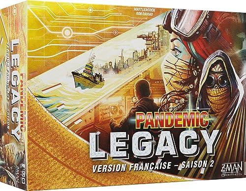 salida Asmodee Pandemic Pandemic Pandemic Legacy amarillo Saison 2, pan08yel, no precisa  Tienda de moda y compras online.
