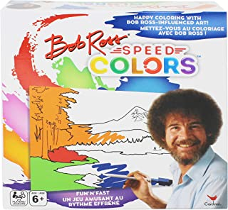 Bob Ross Speed Colors Family Coloring Game | For 2-5 Players