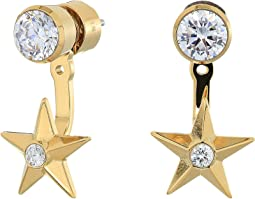 Brilliance Star Front and Back Drop Earrings