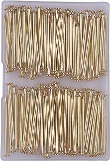 OMOTOOL Lot de 100 clous de 5 cm - En laiton - Pour accrocher des photos et du bois.