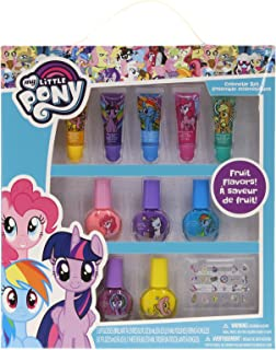 TownleyGirl My Little Pony Super Sparkly Cosmetic Set with lip gloss, nail polish and nail stickers