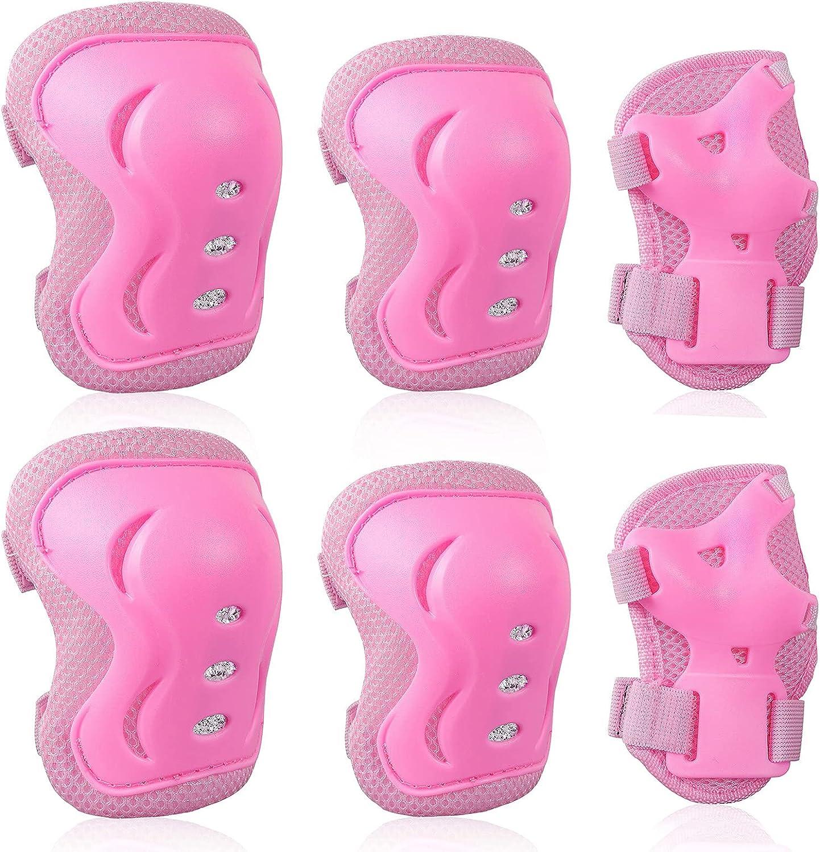 Conjunto de equipo de protección para niños con rodilleras suaves, coderas, muñequeras para niños pequeños, patinaje, ciclismo, patinaje, monopatín, apto para niños y niñas