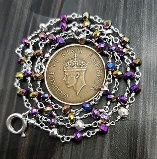GEM MART EU Collar chapado en plata de 45,72 cm de espinela mística de 3,5 mm.