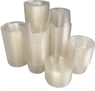 أكواب وأغطية بلاستيكية قابلة للتحلل البيولوجي سعة 118 مل - 100 قطعة