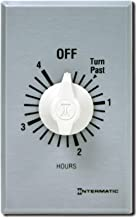 Intermatic FF4H Spring Wound Timer, Brushed Metal Finish