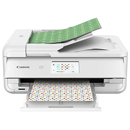 Canon TS9521C All-In-One Wireless Crafting Photo Printer, 12X12 Printing, White, Amazon Dash Replenishment Ready