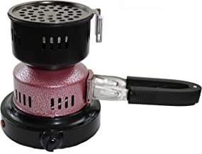 Electric Charcoal Burner/Charcoal Burner with Detachable Rubber Tong, Fire Burner Stove for Hookah, Shisha, Nargila, BBQ-Includes Free Coal Tongs