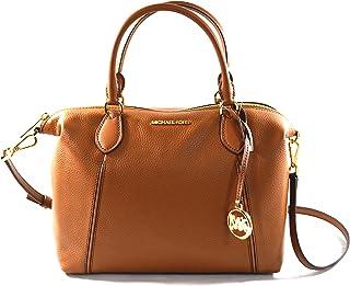 حقيبة يد كبيرة من الجلد الناعم من مايكل كورس لينوكس، حقيبة سفر بحزام متقاطع من الجلد