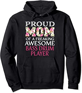 Proud Mom Awesome Bass Drum Player Pullover Hoodie