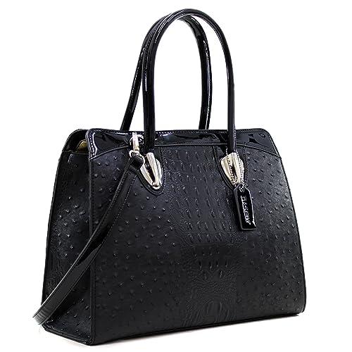 5dc01eb863a98c Dasein Women's Top Zip Double Handle Structured Work Tote Satchel Handbags  Shoulder Bag Purse