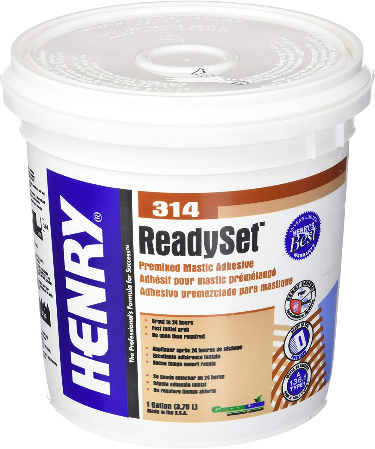3 Save money Set 12256 GAL #314 Cera Adhesive WW Of Henry Ranking integrated 1st place 1 gal Company