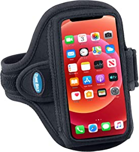 Tune Belt AB86.1 Cell Phone Armband Holder for iPhone 13 Mini, 12 Mini and SE 2020 - Water Resistant Sport Band for Running and Working Out (Black)