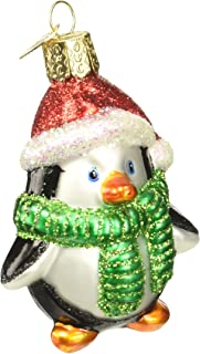 Old World Christmas Ornaments: Playful Penguin Glass Blown Ornaments for Christmas Tree