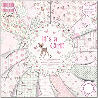 "First Edition Pad Papier 12""x12"" It's A Girl"
