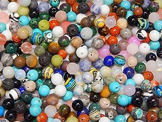 Piedras Preciosas Mixtas Perlas Redondas Set de Lava, Cuarzo, aventurina, amazonita, Amatista, Jade, Piedra de Luna, Jaspe...