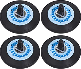 Ultra Durable DC97-16782A Dryer Drum Roller Replacement Part by Blue Stars - Exact Fit for Samsung Dryers - Replaces DC97-07523A DC97-07523B PS4221885 AP5325135 - PACK OF 4