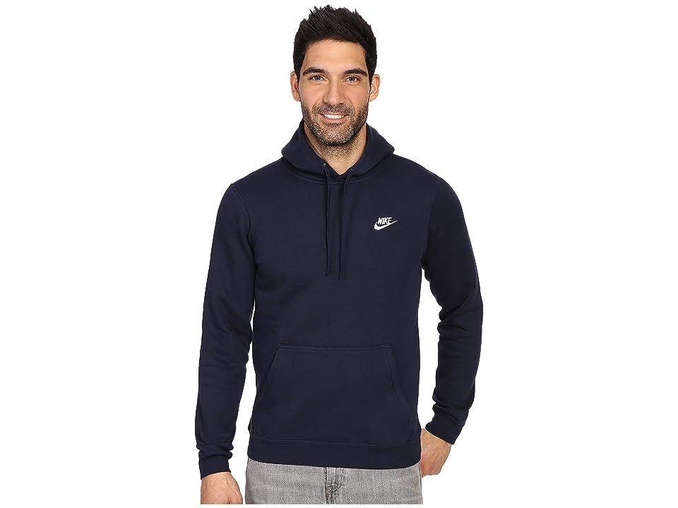 Nike Club Fleece Pullover Hoodie (Obsidian/Obsidian/White) Men