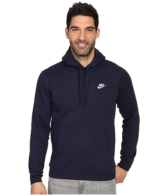 Nike Club Fleece Pullover Hoodie (Obsidian/Obsidian/White) Men