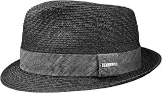 Stetson Rowlett Toyo Trilby Sun Hat Beach Hat Summer Hat Straw Hat for Men Fedora Spring-Summer