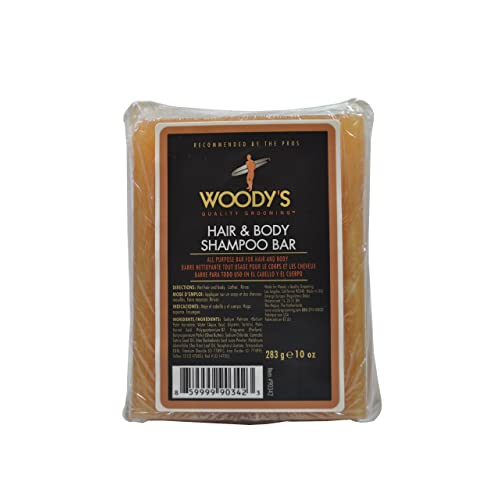 Woody's Meat & Potatoes Hair & Body Shampoo Bar, 8 oz