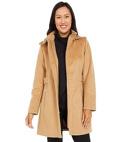 Vince Camuto Hooded Wool Coat V20770-ZA (Camel) Women