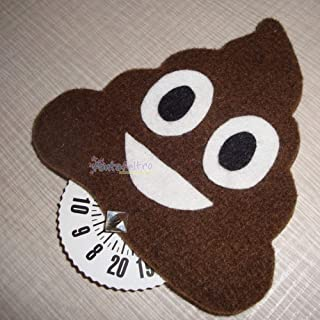 Disco Orario per auto Emoticon Cacca - emoji - idea regalo simpatica uomo donna