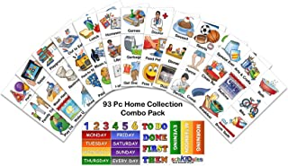 SchKIDules 93 Pc Home Collection Combo Pack for Visual Schedules, Kids Calendars and Behavior Charts: 72 Home-Themed Activity Magnets Plus 21 Headings Magnets (2nd Ed)
