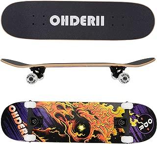 ohderii Complete Longboard Skateboards Cruiser Skateboard Through Downhill Skateboard Deck Concave Skateboards for Beginners and Pro