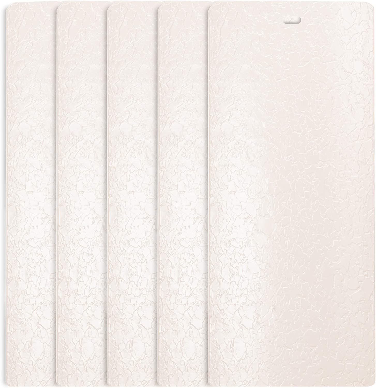 DALIX Flakes Ivory Vertical Blind Texture Slats Sliding Door 98.