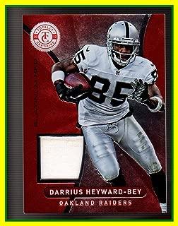 2012 Totally Certified Red Materials GAME USED JERSEY #63 Darrius Heyward-Bey Oakland Raiders Maryland Terrapins Serial #24/299