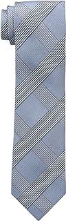 Calvin Klein Men's Tonal Glenn Plaid Tie, Aqua, One Size