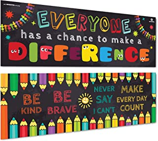 Sproutbrite Classroom Banner and Posters for Decorations - Educational, Motivational and Inspirational Growth Mindset for ...