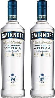 Smirnoff Blue No. 57 Export Strength Vodka, 2er, Wodka, Alkohol, Alkoholgetränk, Flasche, 50%, 1 L, 715016