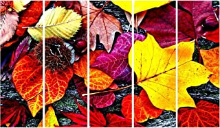 999Store paintings for living room modern art Nature wall art panels hanging painting Set of 5 frames (130 X 76 Cm)