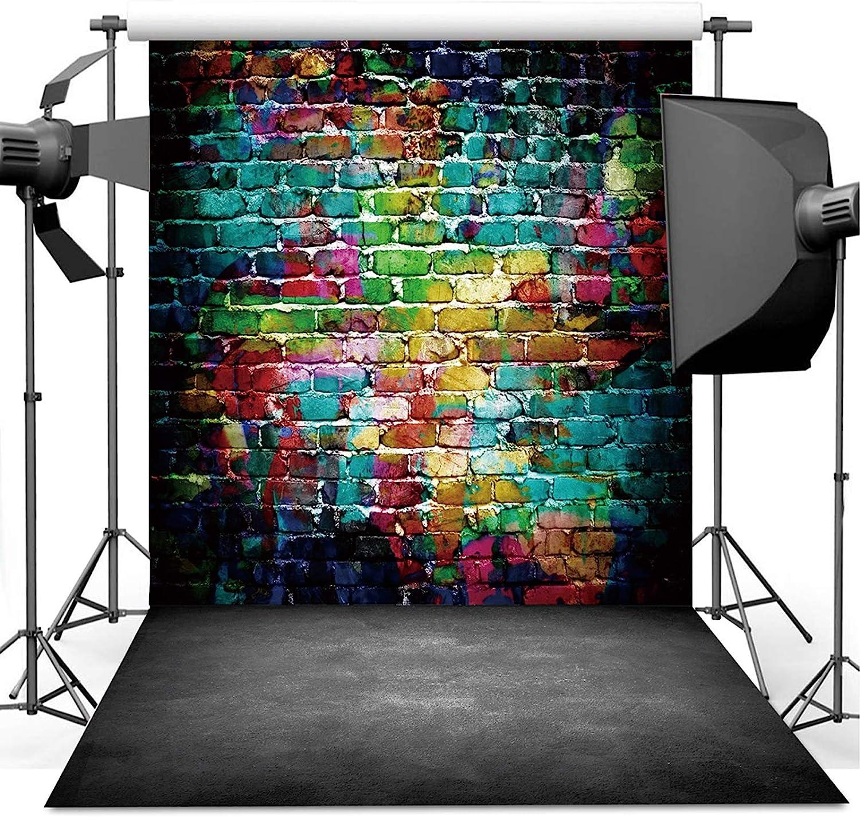 Dudaacvt 35% OFF Graffiti Photography Translated Backdrop 5x7 Colorful Brick ft Wa