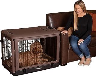 """قفص """"ذا باب أخرى"""" من الصلب بأربعة أبواب مع سرير قطيفة + حقيبة سفر للقطط/الكلاب من بيت جير 36-inch PG5936BCH"""
