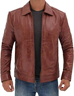 Brown Leather Jacket Men - Real Lambskin Mens Leather Jackets