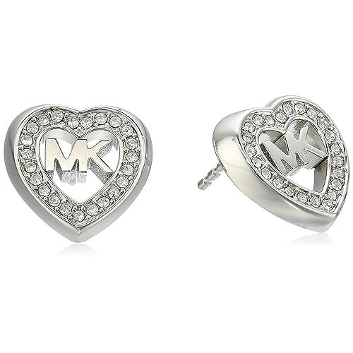 cb7cc730eb965 Michael Kors Womens Heart Stud Earrings