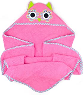 """DII 100% Cotton, Machine Washable, Perfect Shower, Baby or Birthday Gift for Toddler 32x32"""" Hooded Towel for Infant to Tod..."""