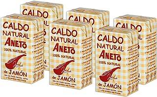 Aneto 100% Natural - Caldo de Jamón - caja de 6 unidades de 1 litro
