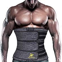 NINGMI Taille Trainer voor Mannen Sauna Zweet Taille Trimmer Cincher Slanker Riem Neopreen Fitness Body Shaper Workout Gordel