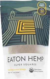 Eaton Hemp, Super Square Cashew Coconut Mango Organic, 4 Ounce