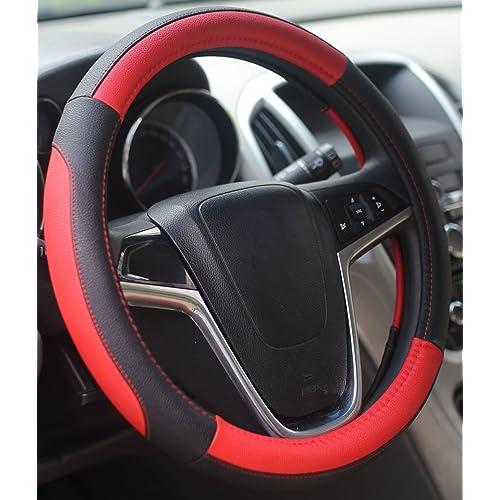 Negro Mincome Funda Volante Di/ámetro de 38-42 cm La cubierta del volante para Coche cuero de silicona