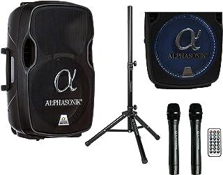 """Alphasonik 12"""" Portable Rechargeable Battery Powered 1200W PRO DJ Amplified Loud.."""