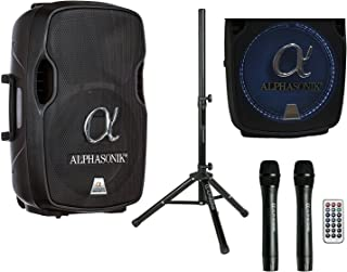 "Alphasonik 12"" Portable Rechargeable Battery Powered 1200W PRO DJ Amplified Loud.."