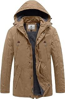 Men's Winter Warm Sherpa Lined Parka Jacket with Detachable Hood