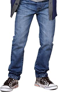Boys' Kids' Husky Waist Cotton Denim Regular Fit Jeans Pants
