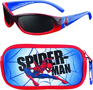 Spiderman Kids Sunglasses with Kids Glasses Case,...