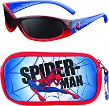 Marvel Spiderman Kids Sunglasses with Glasses Carrying Case and UV Protection
